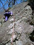 アブラカタブラ(5.10a)を登る竜少年