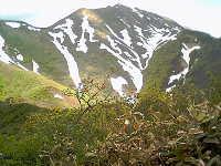 白毛門からの朝日岳方面