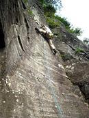 ヘイ・ジュードを登るHINAさん。この後、マントル部分でワンテン・・・