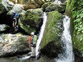 2条の小滝を左から越える