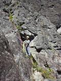 3~4ピッチは明るいフェース登りが続く。