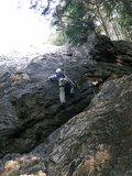 女岩北面を登る