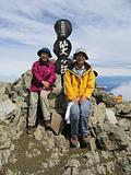 仙丈岳山頂にて